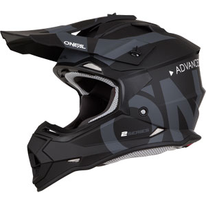 2019 ONeal 2 Series Slick Helmet - Flat Black/Gray