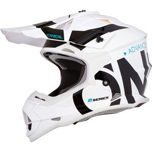 2019 ONeal 2 Series Slick Helmet - White/Black