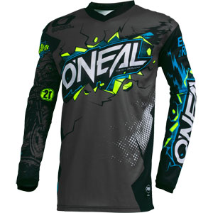 2021 Oneal Element Villain Youth / Kids Jersey - Gray