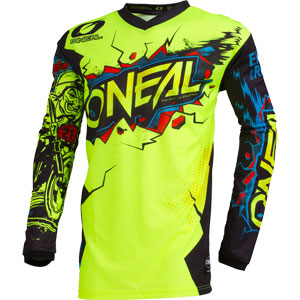 2019 Oneal Element Villain Youth / Kids Jersey - Neon Yellow