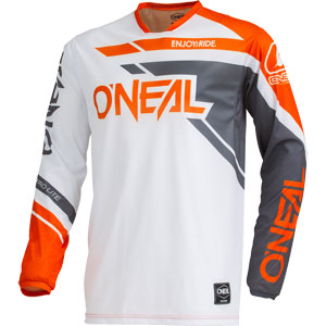 2019 ONeal Hardwear Rizer Jersey - Gray/Orange