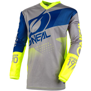 2020 Oneal Element Factor Jersey - Gray/Neon Yellow