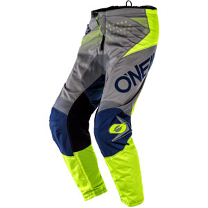 2020 Oneal Element Factor Pants - Gray/Neon Yellow