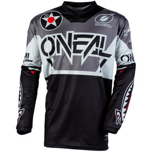 2020 Oneal Element Warhawk Jersey - Black/Gray