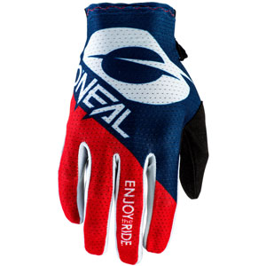 2021 ONeal Matrix Stacked Gloves - Blue/Red