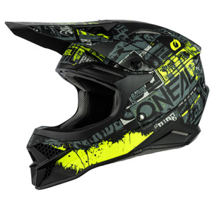 2021 ONeal 3 Series Ride Helmet - Black/Neon