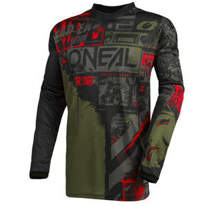 2021 Oneal Element Ride Jersey - Black/Green