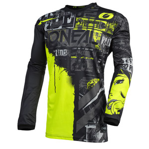 2021 Oneal Element Ride Youth / Kids Jersey - Black/Neon
