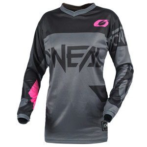 2021 Oneal Element Racewear Kids / Girls Jersey - Gray/Pink
