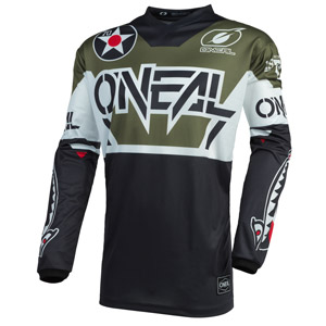2021 Oneal Element Warhawk Jersey - Black/Green