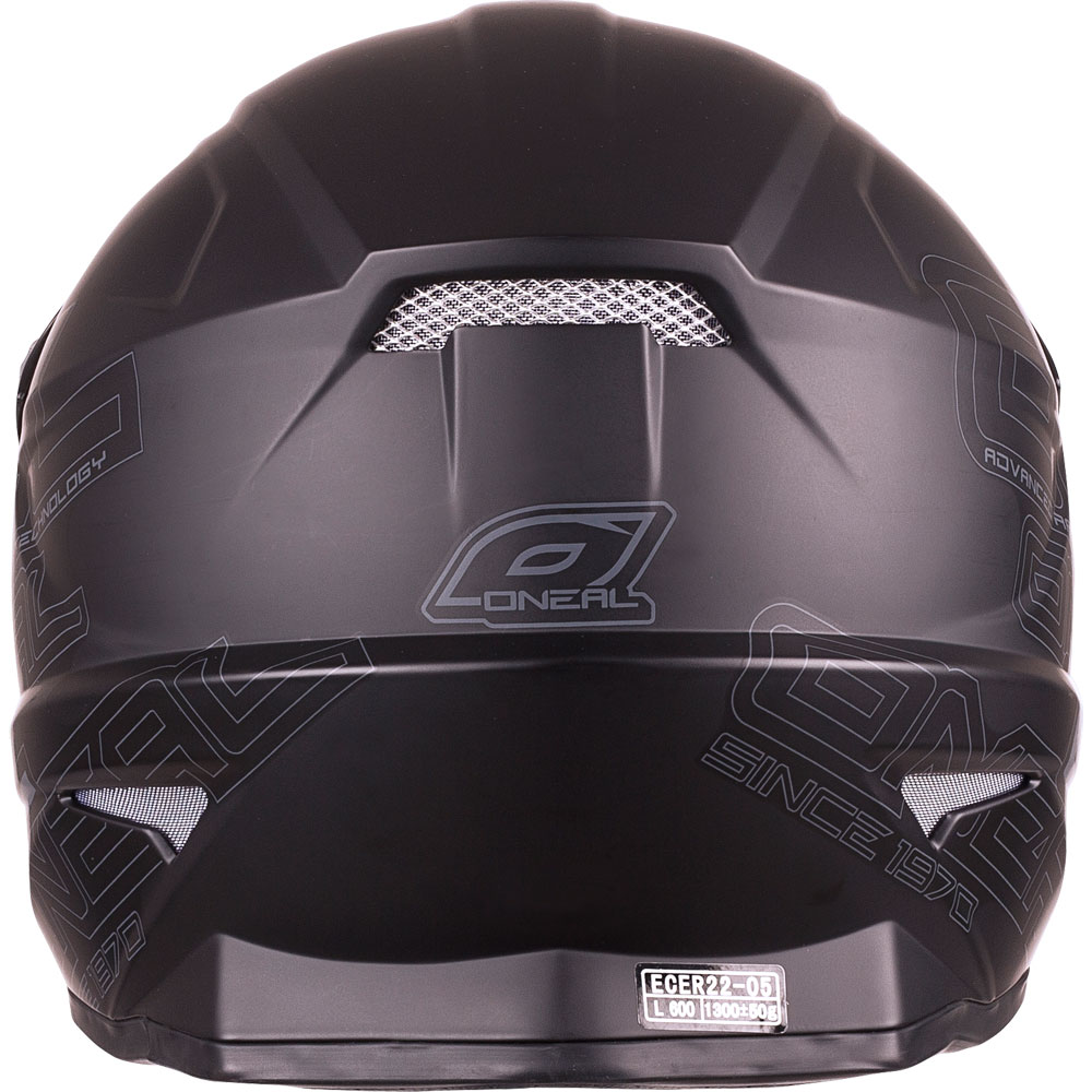 2017 O'Neal 3 Series Black Helmet Back